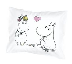 Moomin - Pillowcase -Hearts- pink, 55x65 cm (Finlayson):Amazon:Kitchen & Home