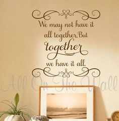 Beautiful family saying! Needs to be in my family room! Family Wall Decal Saying Vinyl Lettering We May by AllOnTheWall Decals Wall Stickers Words Decor Housewarming Wedding gift idea Family Wall Quotes, Family Wall Decor, Family Wall Sayings, Family Room, Wall Stickers Family, Vinyl Wall Stickers, Wall Vinyl, Wall Art, Vinyl Quotes