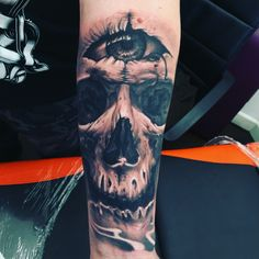 Skull Tattoo Third Eye