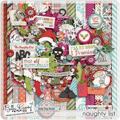 Digital Scrapbook Kit - Naughty List by Bella Gypsy Designs & Jady Day Studio.
