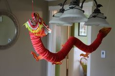 Fun Express Chinese Paper Dragon Decoration - 1 Piece for sale online Chinese Theme Parties, Chinese Party, Chinese New Year Decorations, New Years Decorations, Dance Party Decorations, Party Themes, Party Ideas, Deco Nouvel An, Chinese Birthday