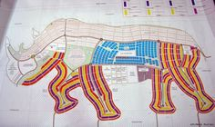 Rhino shaped masterplan