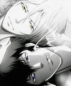 Black and white. .Makishima and Kougami - Psycho Pass