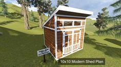 10x10 Modern Shed Plan...http://www.DIY-Plans.com