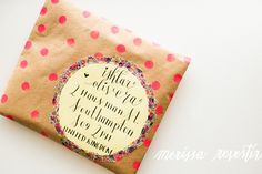 polka dot envelope by MERISSA CHERIE: {Happy Mail Project} No. 2