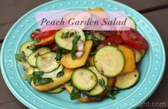 I love using the herbs from my own little organic garden, and there's nothing easier than making yourself a refreshing salad, when it's too hot to cook. *yields one portion Ingredients: 1 peach, sliced 1 large tomato, sliced 1 zucchini, thinly sliced 2 tbsp shallot, coarsely chopped Small handful of mixed fresh herbs from your …