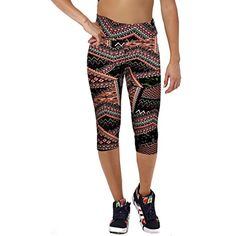 Womens Tartan Active Workout Capri Leggings Outfit Stretch Tights -- Continue to the product at the image link. (This is an affiliate link) #ExerciseFitness