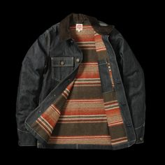 Serape blanket lined Carhartt denim classic -  union made