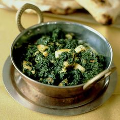 Saag Paneer Dinner last night part 2 and yes i made the paneer