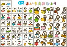 Kidsmoji hiragana chart dakuten and combination hiragana