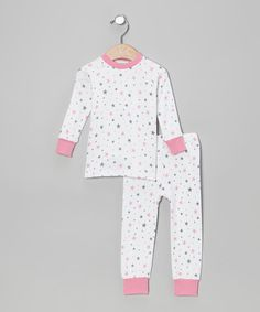 pink   grey delicious stars (cat   cow) Girls Pjs 1d8e99acf
