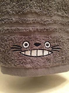 Totoro Hand Towel for kitchen or bath. Studio Ghibli rocks