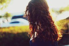 Love the way the light shines around her hair