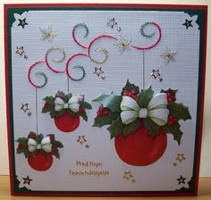 Embroidery Cards, Marianne Design, Xmas Cards, String Art, Scrapbooking, Wreaths, Stitch, Ideas, Cards