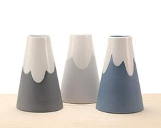 slip-cast porcelain cone mountain vase