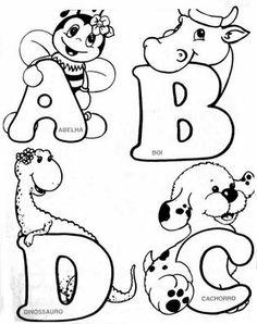 Alfabeto de Animais - Moldes   Pra Gente Miúda