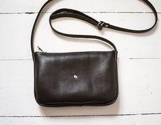 945c32f9a4664 FOKS FORM Mi Bag 011, black leather shoulder bag, messenger bag, small  crossbody bag, every day bag, black leather crossbody bag, leather