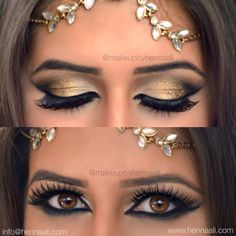 Golden glittered lids and smouldering Egyptian smokey eye look (inspired by the amazingly talented @samerkhouzami ) on the stunning Samah make-up by me using my fav @eyekandycosmetics glitter in hard coin and sugar cane and #mac #smoulder eye pencil and perfect  brows using the one and only @anastasiabeverlyhills #browwiz and loving these @eldorafalseeyelashes in #h115  make-up by me  For a full list of services including charges please visit: www.hennaali.com  link in my bio. For enquiries…