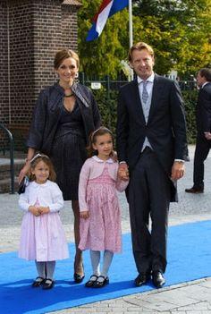 Dutch Prince Floris, Princess Aimee, Magali (R) and Eliane attend the wedding of Prince Jaime de Bourbon de Parma in the Church Onze Lieve Vrouwe ten Hemelopneming in Apeldoorn, 05.10.13.