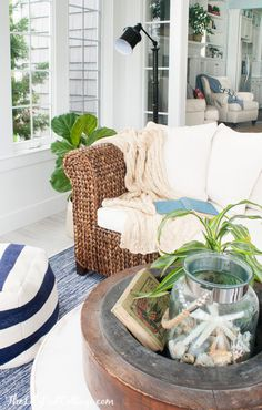Coastal Sunroom Deco