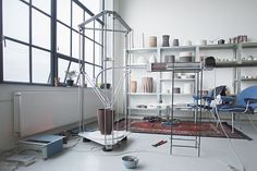 Olivier van Herpt has created a 3D printer and extruder system for making pottery