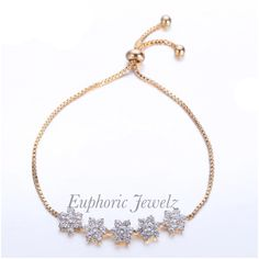 💎Item #: DC-SZ-DFATB-G-124, DC-SZ-DFATB-S-124 *DAINTY COLLECTION* 💎A lovely Swarovski Zirconia crystal dicot floral design for a chic and glamorous look. 💎Shop this product here: http://spreesy.com/EuphoricJewelz/52 💎Shop all of our products at http:/