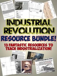 Wonderful Industrial Revolution Unit Resource Bundle includes lots of fantastic resources for a whole unit on Industializatiom!