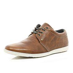 Tan slim trainers #riverisland #RImenswear