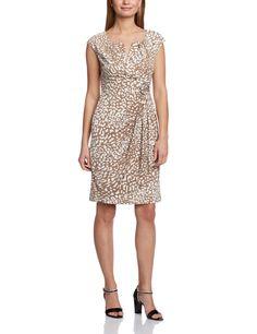 Adrianna Papell Women's Rosette Animal Print Floral Sleeveless Dress: Amazon.co.uk: Clothing