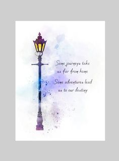 * Available in sizes 10 x 8 inches — x 203 mm) x inches — mm x 210 mm) For sale directly from the artist Original Kunst-Druck-Narnia inspired quote illustration created with mixed media and a modern design Some trips take us far from home. Citations Disney, Citations Film, Art Prints Quotes, Art Quotes, Life Quotes, Quote Art, Destiny Quotes, Dream Quotes, Lyric Quotes