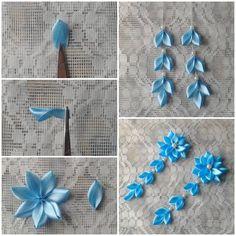 DIY Ribbon Hairpin Flower LIKE Us on Facebook ==> https://www.facebook.com/UsefulDiy