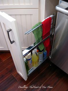 Great idea for extra storage in the kitchen!