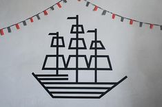 10 Ways To Get Decorative With Washi Tape DIY Piratenschiff mit Wasi Tape… aber Ihre Dekoration ist Washi Tape Dorm, Washi Tape Crafts, Tape Wall Art, Tape Art, Deco Tape, Wall Paper Phone, Diy Projects To Try, Art Projects, Pirates