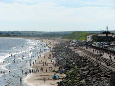 Photo taken on one of the sunny days this summer, Youghal front strand in the background you can see Claycastle and to the top left Redbarn beach. County Cork, Sunny Days, Paris Skyline, Dolores Park, Spaces, Album, Beach, Summer, Travel