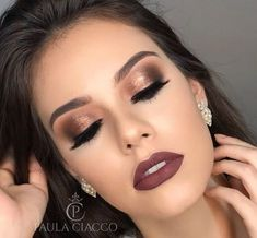 formal makeup Lips - 27 Ideas makeup looks natural dark lips for 2019 Day Makeup, Bride Makeup, Prom Makeup, Wedding Hair And Makeup, Makeup Tips, Makeup Ideas, Make Up Looks, Matte Makeup, Airbrush Makeup
