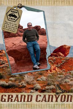 """Grand Canyon"" digital scrapbooking layout by Rosemary Siewert"