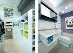 Modern Container Homes in Kansas City by Debbie Glassberg : bathroom and closet