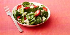 5 easy ways to use fresh berries salads salad, feta salad и Salad Buffet, Salad Bar, Berry Salad, Feta Salad, Salad Recipes Video, Healthy Salad Recipes, Orzo, Sin Gluten, Cooking Show Hosts