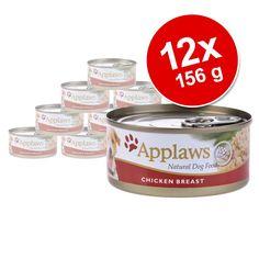 Animalerie  Lot Applaws 12 x 156 g pour chien  poulet jambon légumes
