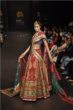 Ritu Kumar is one of the guaranteeing designers of Indian design world; she fits in with Indian fashion house. Designer Bridal Lehenga, Indian Bridal Lehenga, Pakistani Bridal Wear, Pakistani Outfits, Indian Outfits, Bridal Outfits, Bridal Dresses, Ritu Kumar Bridal, Big Indian Wedding