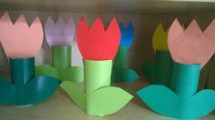 Tulipany z rolki po papierze toaletowym
