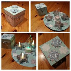 pustepapier pop up box adventskranz to go stampin up. Black Bedroom Furniture Sets. Home Design Ideas