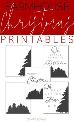 Gussy up your home this Christmas season with these 5 Free Farmhouse Christmas Printables available in black and white! Print them off yourself for affordable holiday home decor! #blackandwhitechristmasprintables #farmhousechristmasprintableart #farmhousewalldecor #holidayhomedecorideas via @peachesandprayer