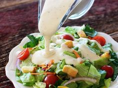 Outback Steakhouse Ranch Salad Dressing recipe on the ORIGINAL copycat recipe website! Todd Wilbur shows you how to easily duplicate the taste of famous foods at home for less money than eating out. Outback Ranch Dressing, Ranch Dressing Recipe, Ranch Salad Dressing, Salad Dressing Recipes, Salad Recipes, Salad Dressings, Healthy Cooking, Cooking Recipes, Healthy Recipes