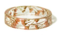 Coral colored flower bangle by ModernFlowerChild