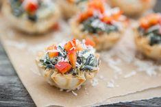Spinach Artichoke Bites by EclecticRecipes.com #recipe