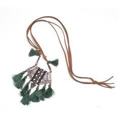 Ethnic Leather Long Tassel Pendant Necklaces – Sattaj Collections