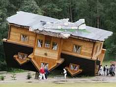 wow! if i ever get to Poland, i have to see this house! The Upside-Down House, Poland