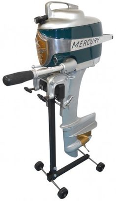 0909: Boat outboard motor w/stand, Mercury Mark 20 Hurr : Lot 909