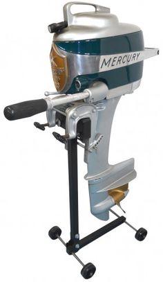 0909: Boat outboard motor w/stand, Mercury Mark 20 Hurr : Lot 909